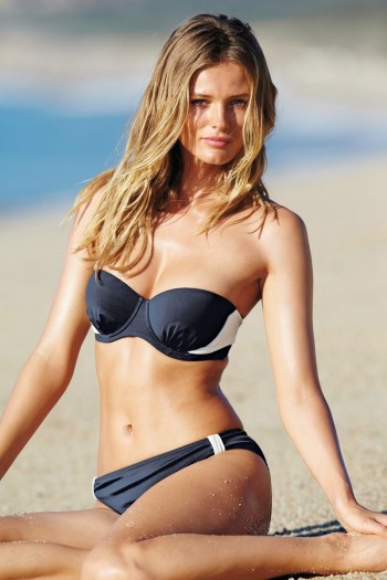 Edita Vilkeviciute Models Swimwear Looks for Next Spring 2014