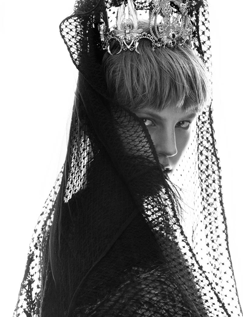 elisabeth erm2 Elisabeth Erm Models Embellished Style for Numéro #149 by Greg Kadel