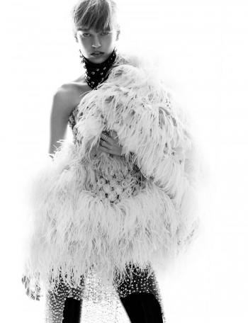 Elisabeth Erm Models Embellished Style for Numéro #149 by Greg Kadel
