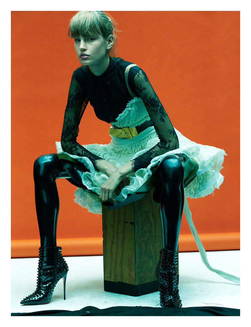 elisabeth erm4 Elisabeth Erm Models Embellished Style for Numéro #149 by Greg Kadel