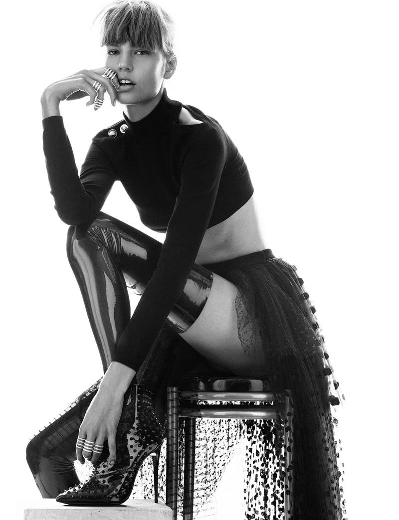 elisabeth erm5 Elisabeth Erm Models Embellished Style for Numéro #149 by Greg Kadel
