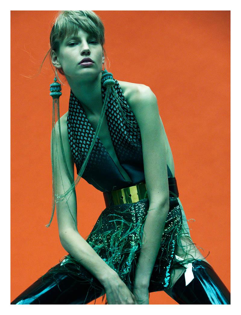 elisabeth erm7 Elisabeth Erm Models Embellished Style for Numéro #149 by Greg Kadel