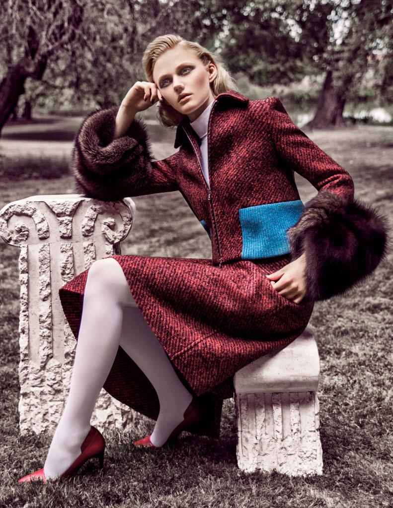 "Emma Skov by Iakovos Kalaitzakis in ""The Big Chill"" for Fashion Gone Rogue"