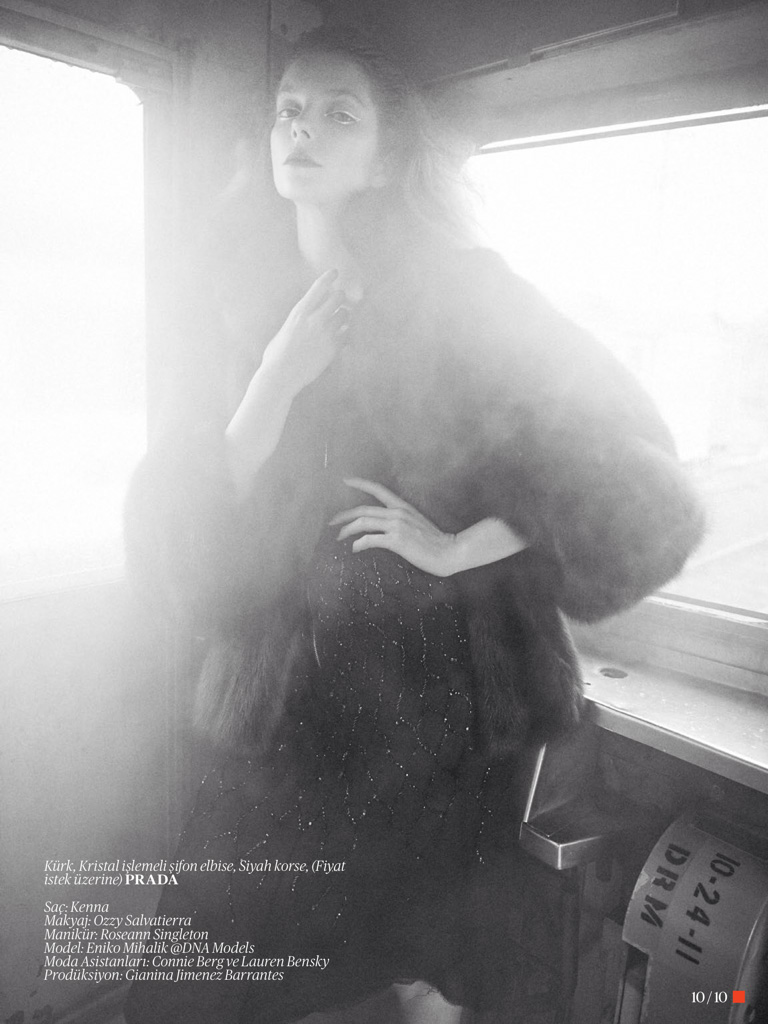 eniko mihalik model10 Eniko Mihalik Poses for Sofia & Mauro in Vogue Turkey Shoot