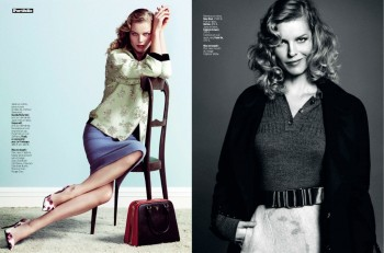 Eva Herzigova is Ladylike Glam for L'Express Styles by Nico