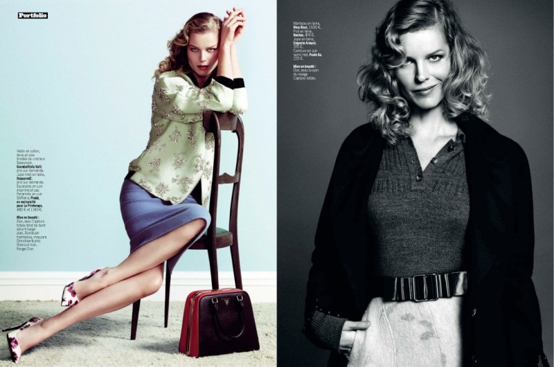 eva herzigova model2 800x530 Eva Herzigova is Ladylike Glam for LExpress Styles by Nico