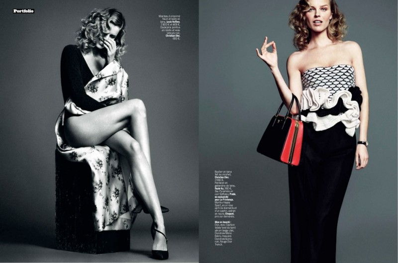 eva herzigova model3 800x530 Eva Herzigova is Ladylike Glam for LExpress Styles by Nico