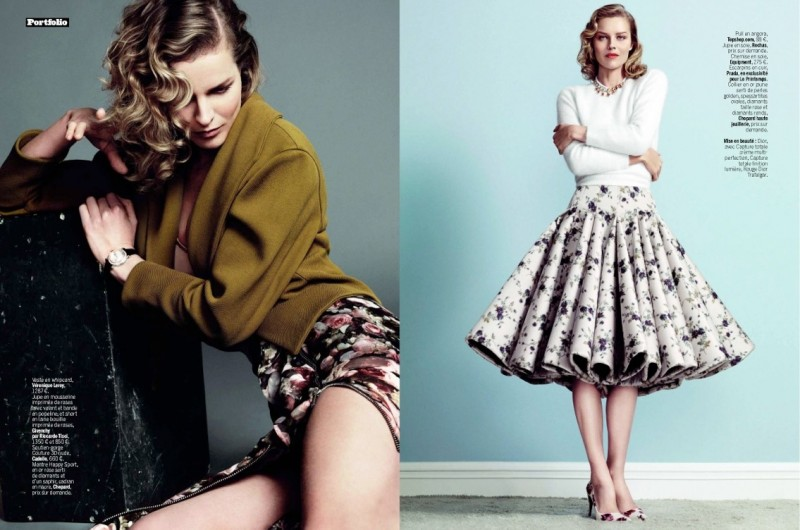 eva herzigova model4 800x530 Eva Herzigova is Ladylike Glam for LExpress Styles by Nico