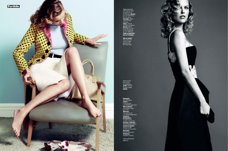 eva herzigova model6 800x530 Eva Herzigova is Ladylike Glam for LExpress Styles by Nico