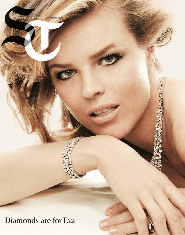 eva jewelry1 Eva Herzigova Shines for The Sunday Telegraph by Francesco Carrozzini