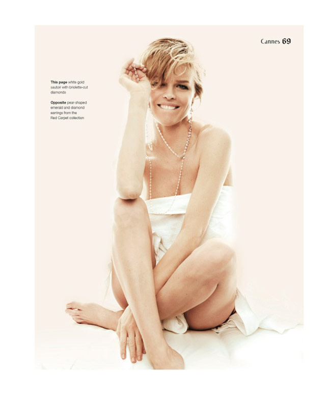 eva jewelry4 Eva Herzigova Shines for The Sunday Telegraph by Francesco Carrozzini