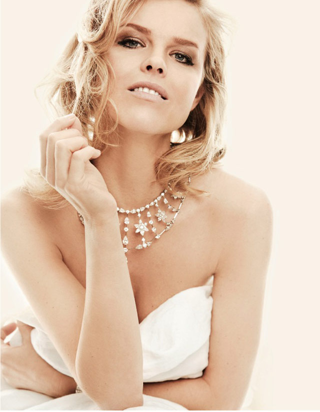 eva jewelry5 Eva Herzigova Shines for The Sunday Telegraph by Francesco Carrozzini