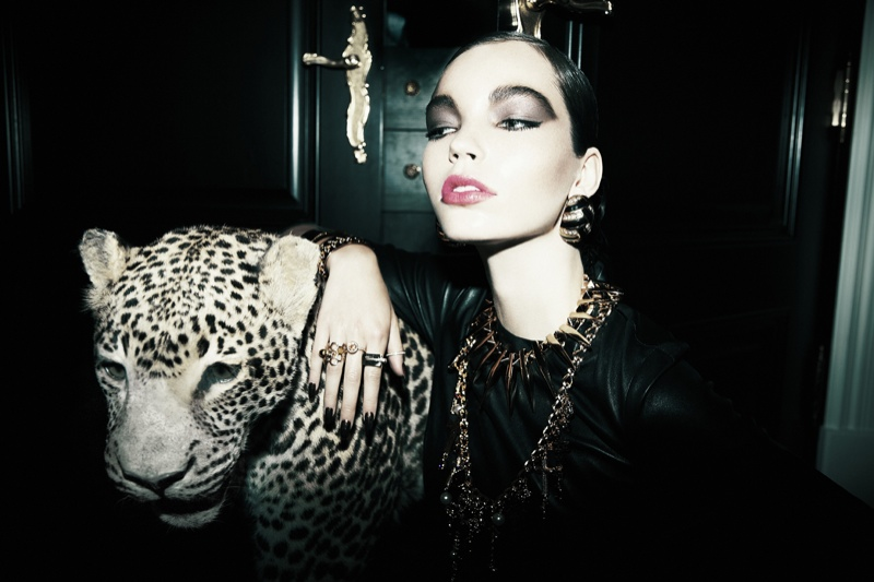feline fashion2 Gabrielle is Feline Chic for Dress to Kill by Richard Bernardin