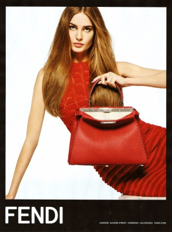 Preview | Nadja Bender for Fendi Spring/Summer 2014 Campaign