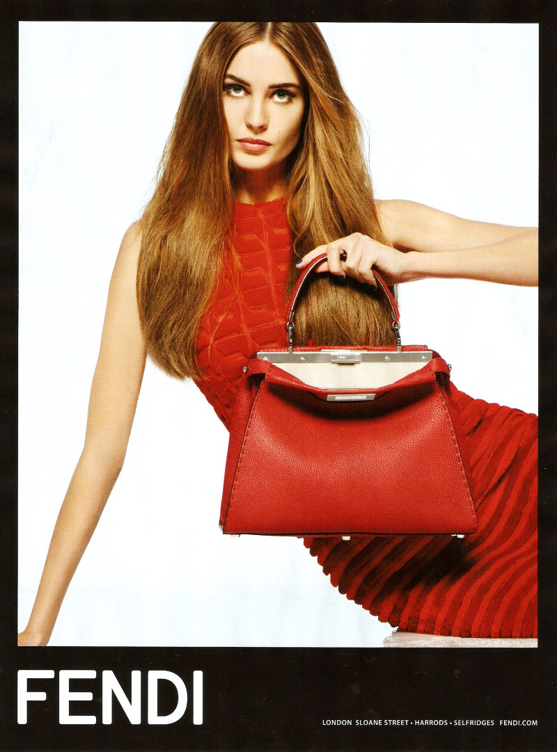 fendi nadja bender spring ad Preview | Nadja Bender for Fendi Spring/Summer 2014 Campaign