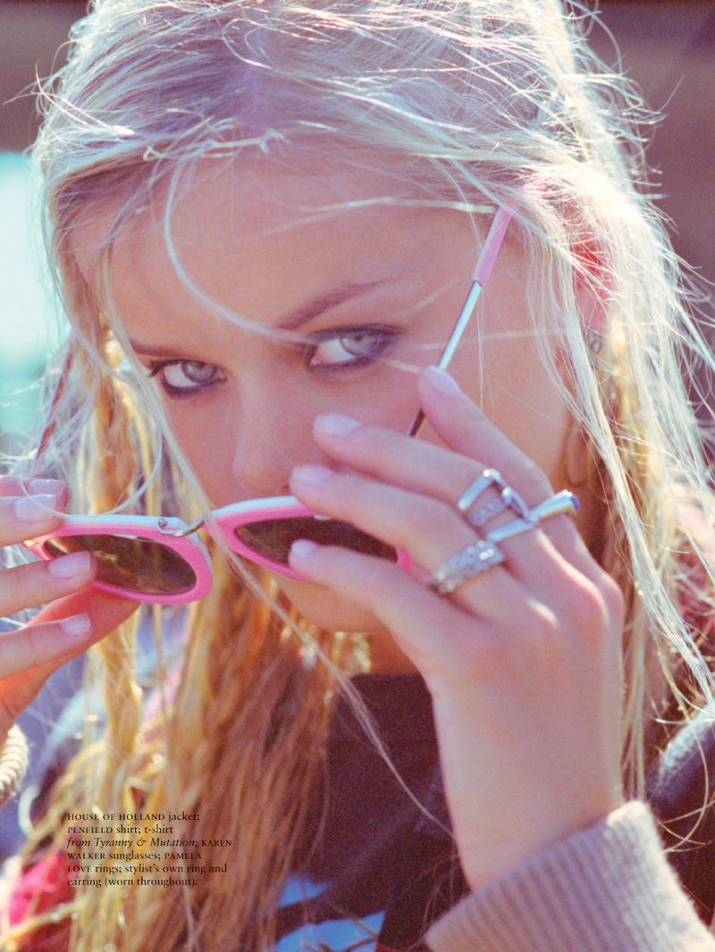 frida aasen shoot3 Frida Aasen Keeps it Casual for Russh Shoot by Hugh Lippe