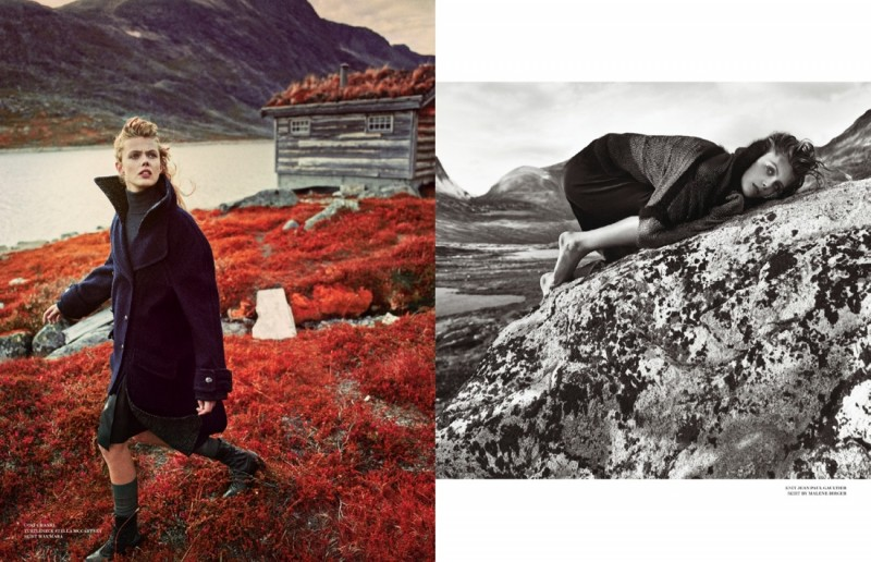 frida scandinavia shoot10 800x516 Frida Gustavsson Enchants for Scandinavia S/S/A/W by Boe Marion
