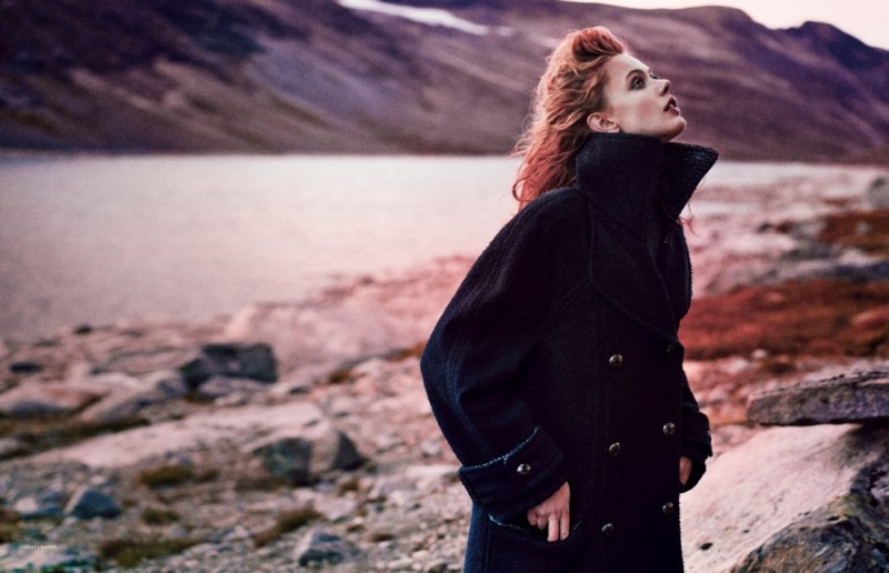 frida scandinavia shoot11 800x516 Frida Gustavsson Enchants for Scandinavia S/S/A/W by Boe Marion