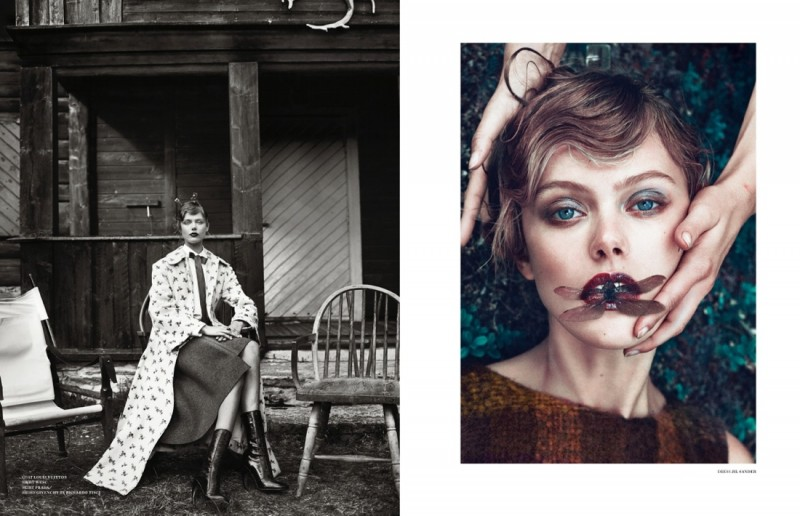 frida scandinavia shoot13 800x516 Frida Gustavsson Enchants for Scandinavia S/S/A/W by Boe Marion