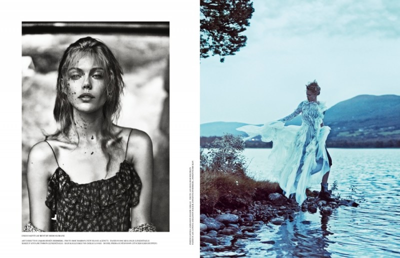 frida scandinavia shoot15 800x516 Frida Gustavsson Enchants for Scandinavia S/S/A/W by Boe Marion