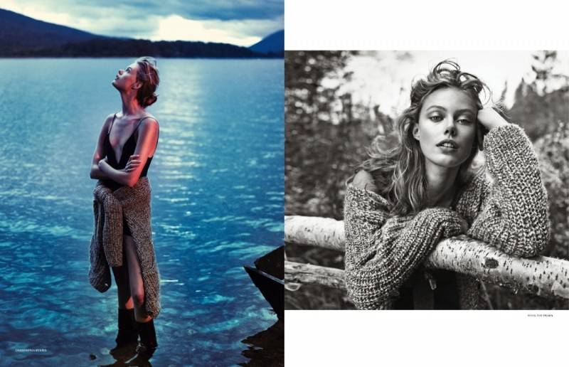 frida scandinavia shoot2 800x516 Frida Gustavsson Enchants for Scandinavia S/S/A/W by Boe Marion