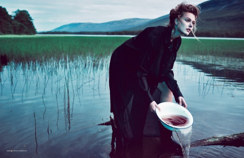 frida scandinavia shoot5 800x516 Frida Gustavsson Enchants for Scandinavia S/S/A/W by Boe Marion