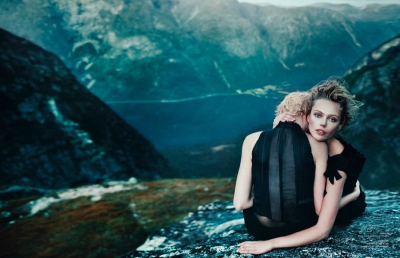 frida scandinavia shoot8 800x516 Frida Gustavsson Enchants for Scandinavia S/S/A/W by Boe Marion
