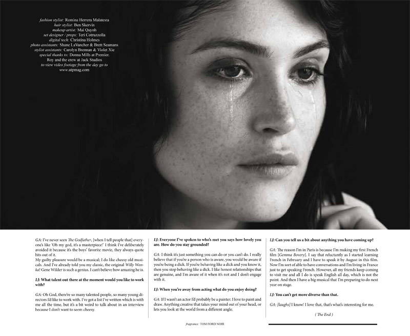 gemma arterton8 Gemma Arterton Enchants for Un Titled Project #6 by Dennis Golonka