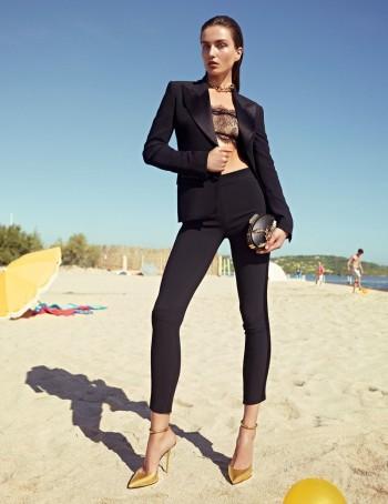 Andreea Diaconu Lands Giuseppe Zanotti Spring/Summer 2014 Campaign
