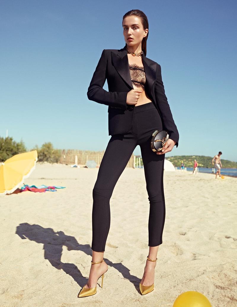 giuseppe zanotti spring 2014 ads1 Andreea Diaconu Lands Giuseppe Zanotti Spring/Summer 2014 Campaign