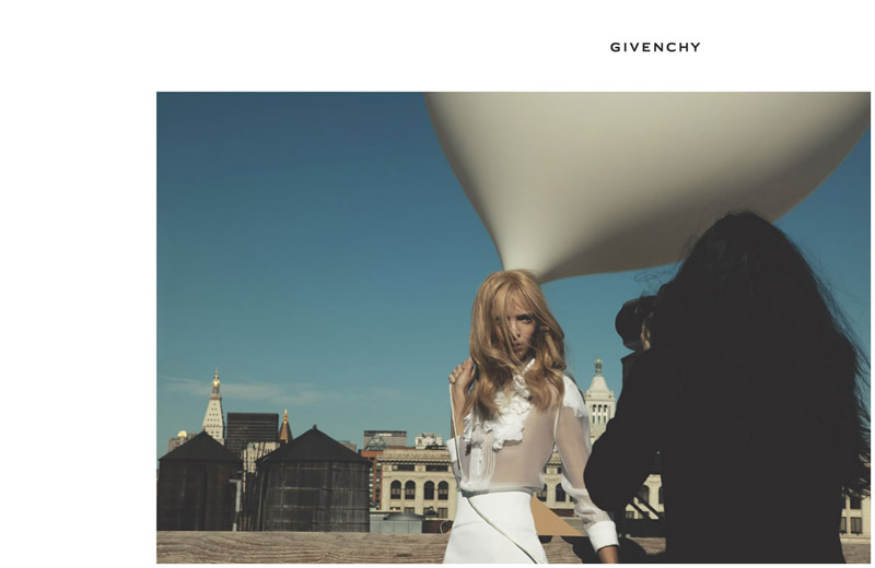 Mariacarla Boscono for Givenchy Spring 2006 Campaign by Inez & Vinoodh