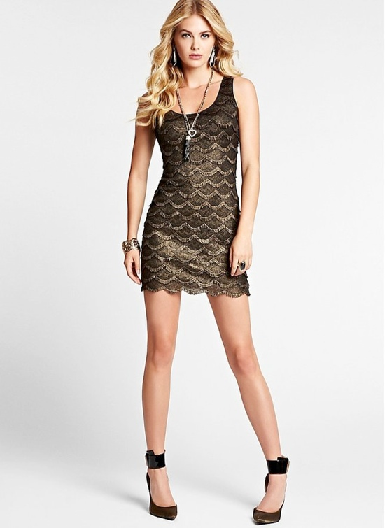 gold lace dress 6 Party Dresses for Holiday Events