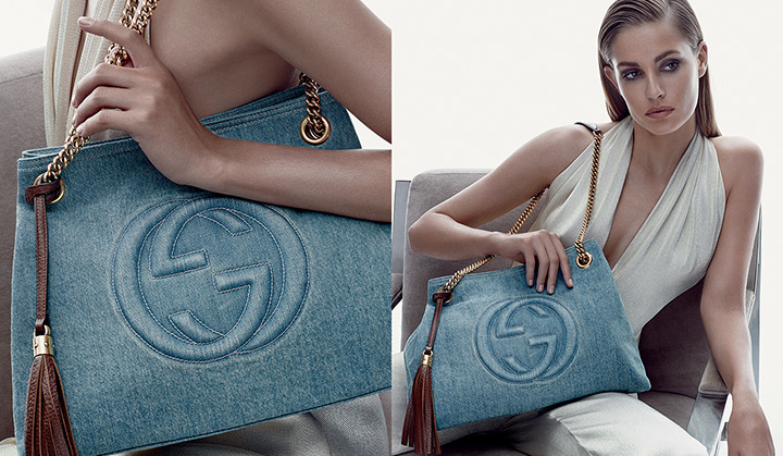 gucci cruise accessories2 Nadja Bender Stars in Guccis Cruise 2014 Accessories Campaign