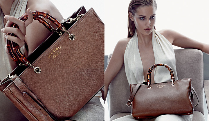 gucci cruise accessories3 Nadja Bender Stars in Guccis Cruise 2014 Accessories Campaign