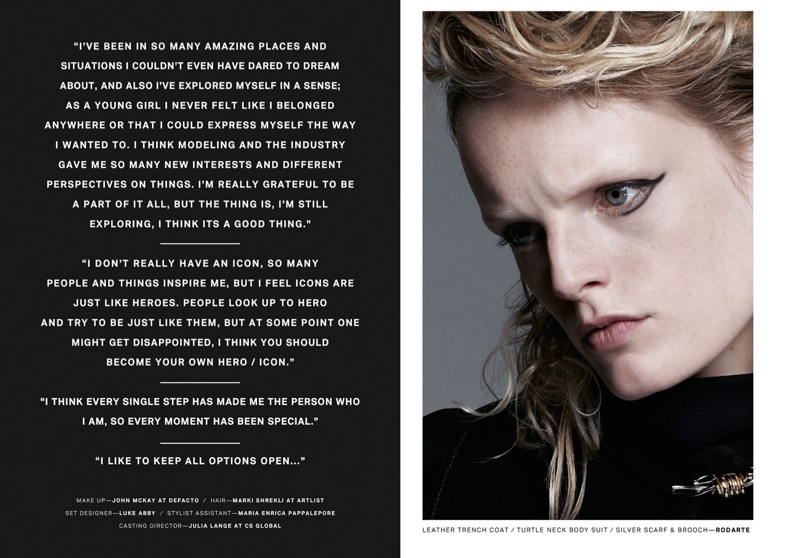 Hanne Gaby Odiele Poses for Lurve Magazine #8