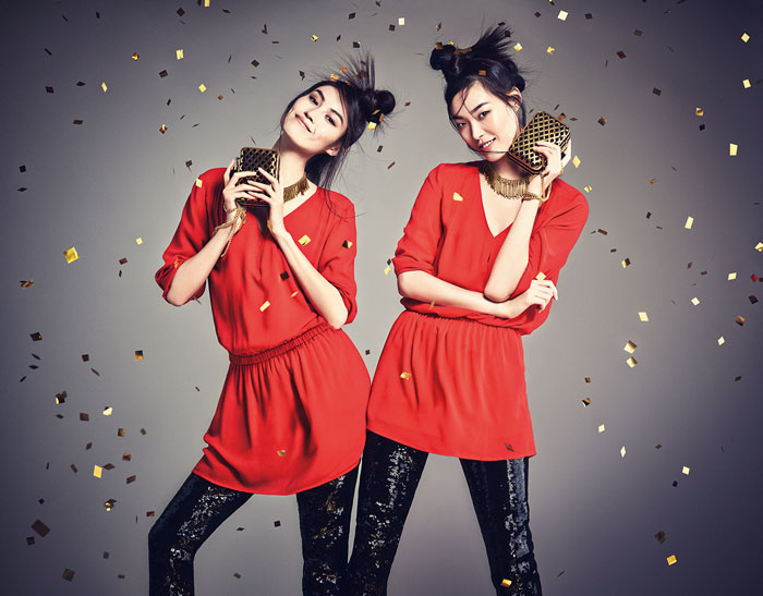 hm china new year1 H&M China Celebrates the New Year with Sui He + Tian Yi