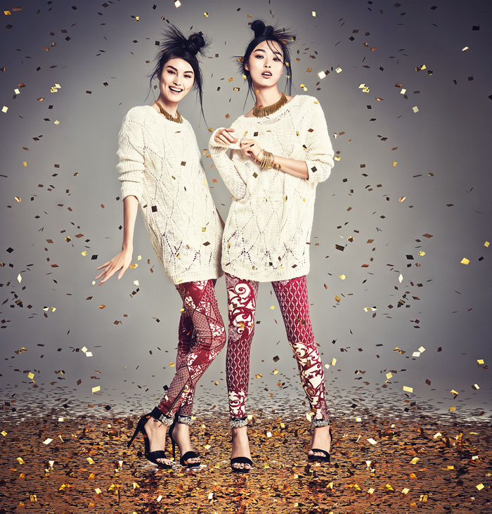 hm china new year3 H&M China Celebrates the New Year with Sui He + Tian Yi