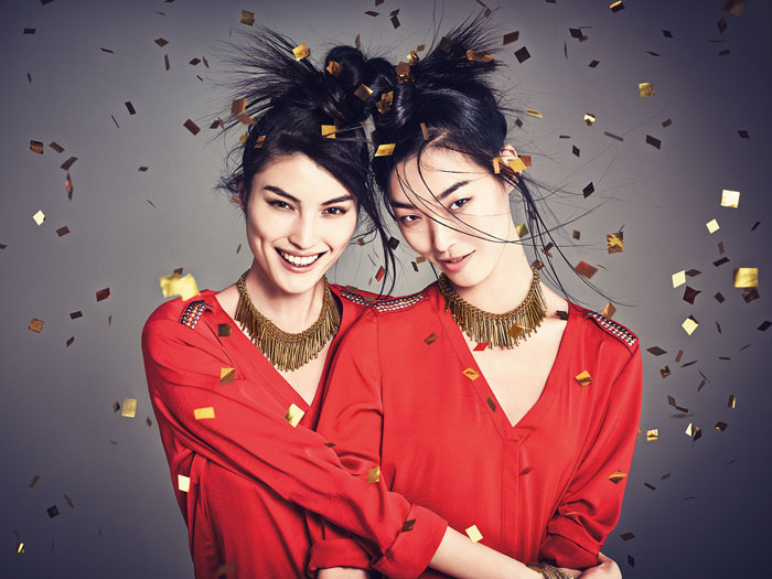 hm china new year5 H&M China Celebrates the New Year with Sui He + Tian Yi