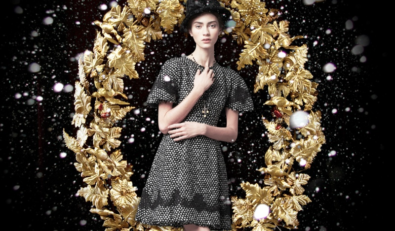 holiday dolce gabbana1 Marine Deleeuw + Ji Hye Park Dress in Holiday Looks for Dolce & Gabbana