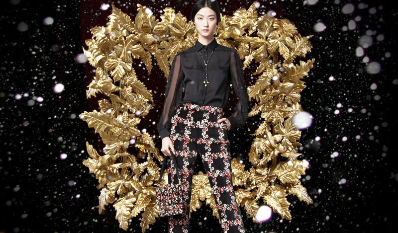 holiday dolce gabbana4 Marine Deleeuw + Ji Hye Park Dress in Holiday Looks for Dolce & Gabbana