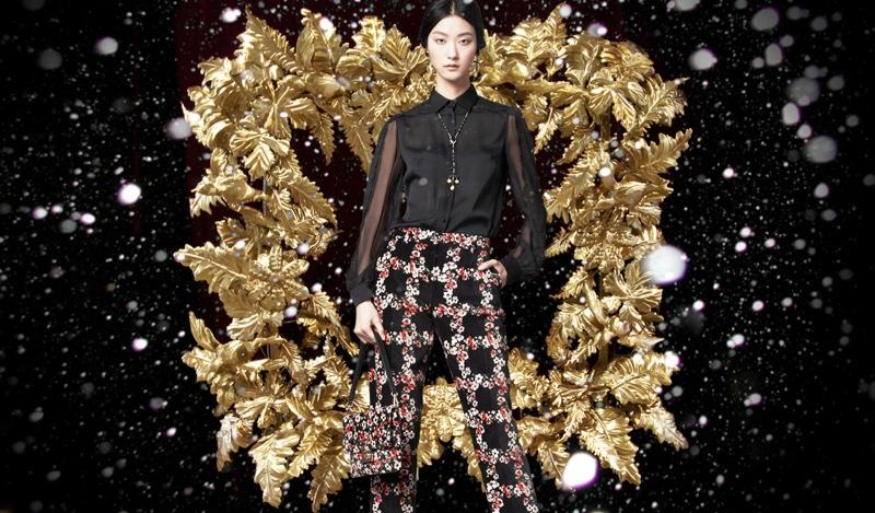 Marine Deleeuw+ Ji Hye Park Dress in Holiday Looks for Dolce & Gabbana