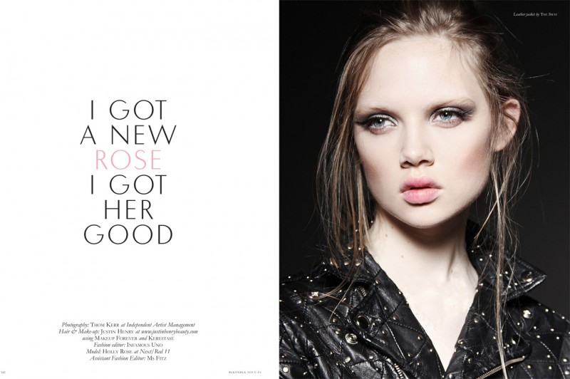 Holly Rose Poses for Thom Kerr in BLK on BLK's Premier Issue