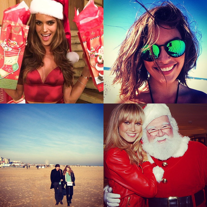 instagram christmas december Instagram Photos of the Week | Cara Delevingne, Alyssa Miller + More Model Pics
