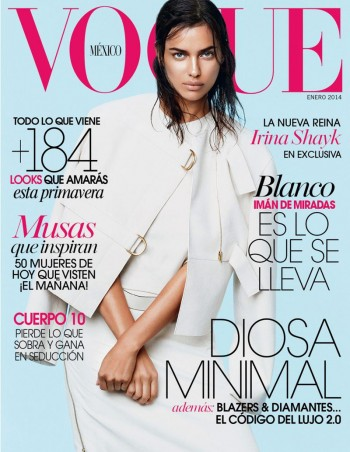 Irina Shayk Scores Vogue Mexico January 2014 Cover