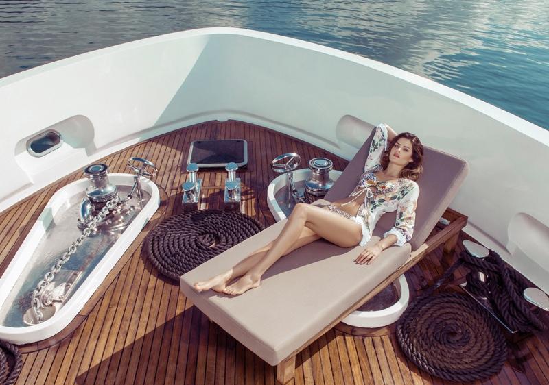 isabeli fontana morena rosa1 Isabeli Fontana Fronts Morena Rosa Beach Spring 2014 Ads