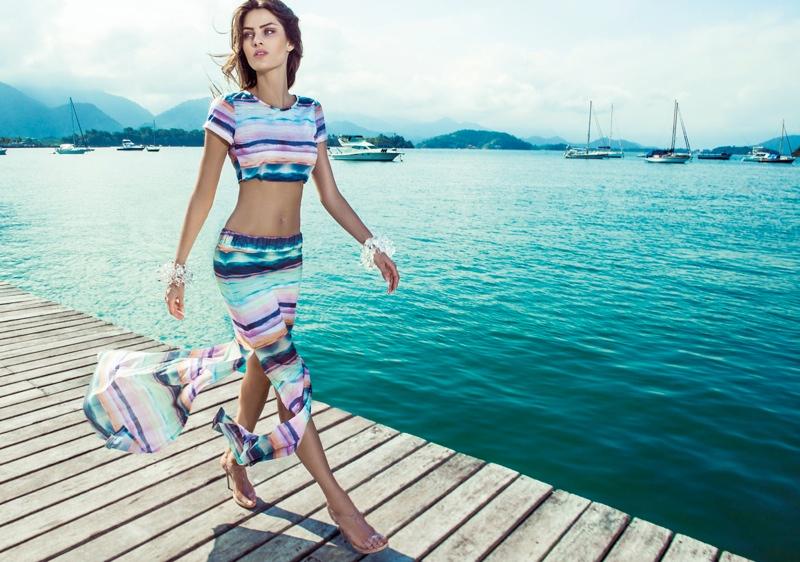 isabeli fontana morena rosa13 Isabeli Fontana Fronts Morena Rosa Beach Spring 2014 Ads