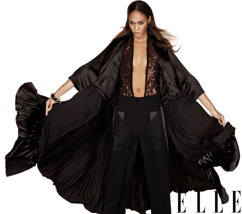 joan smalls elle us2 Joan Smalls Covers ELLE January 2014, Talks About Lack of Diversity
