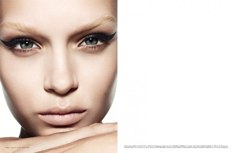 josephine skriver beauty6 800x521 Josephine Skriver Stars in Premier Issue of Narcisse by Marcus Ohlsson