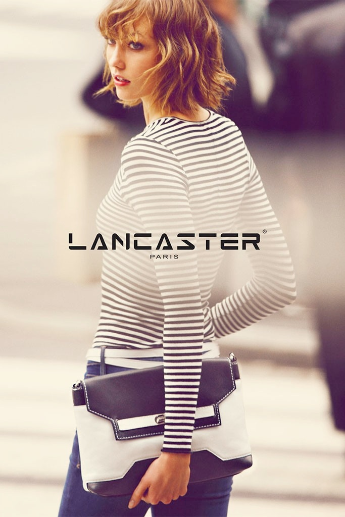 karlie kloss lancaster paris spring3 Karlie Kloss Fronts Lancaster Paris Spring 2014 Campaign