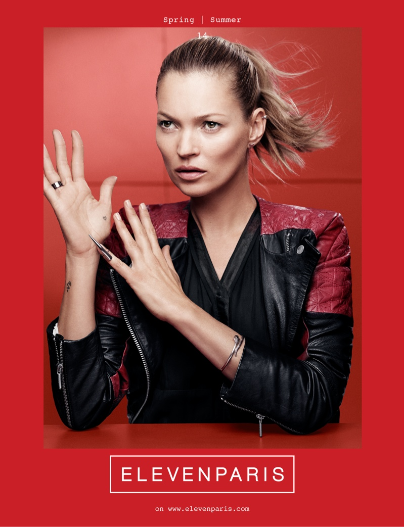 kate moss elevenparis1 Kate Moss is the Face of ElevenParis Spring 2014 Campaign